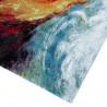 Tapis à courtes mèches design multicolore abstrait Wells