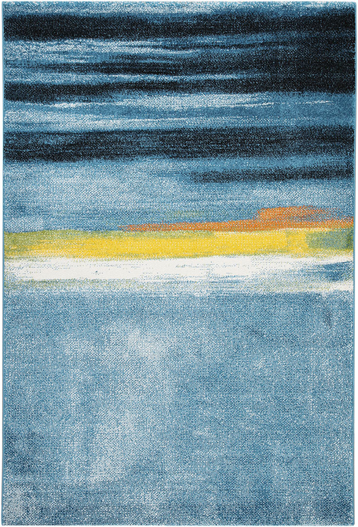 Tapis multicolore abstrait à courtes mèches abstrait Plymouth