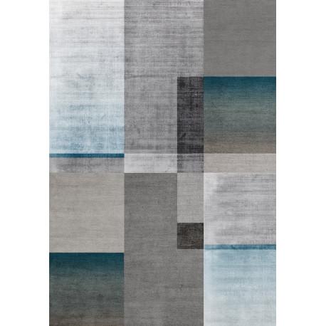 Tapis moderne graphique à courtes mèches rectangle Southwold