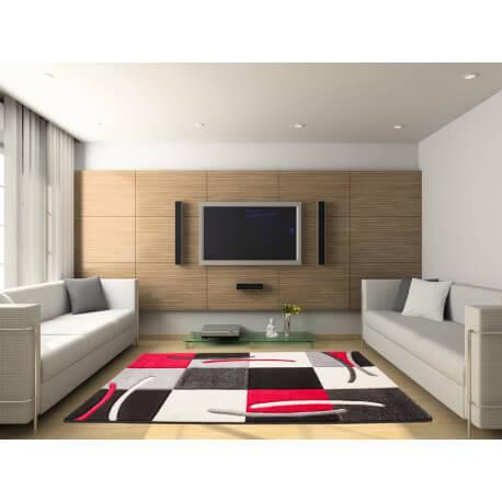 tapis design pour salon rouge sweet. Black Bedroom Furniture Sets. Home Design Ideas