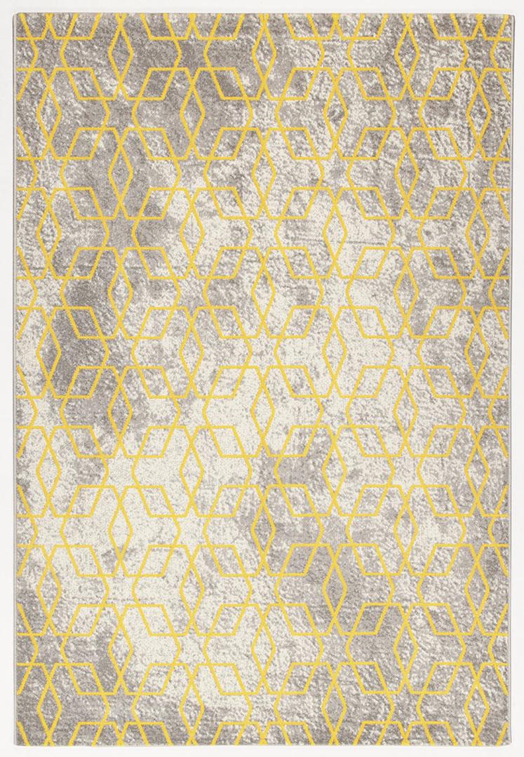 Tapis scandinave graphique rectangle pour salon Exeter