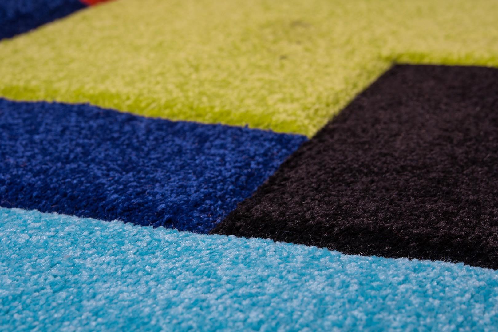 Tapis multicolore pour chambre Worlwide