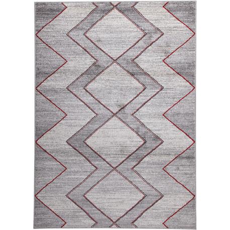 Tapis gris de salon rectangle design Windsor