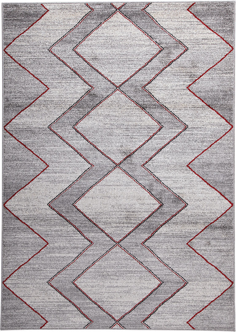 Tapis gris de salon rectangle design Windsor