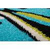 Tapis moderne à courtes mèches bleu et vert Alaska