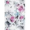 Tapis floral blanc polypropylène rectangle contemporain Wolves