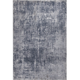 Tapis de salon gris vintage rectangle rayé Galway