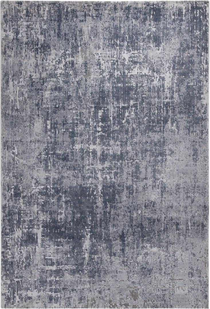 Tapis de salon gris vintage rectangle rayé Galway