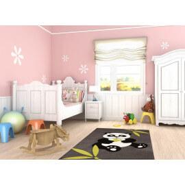 Tapis pour chambre de bébé noir Panda
