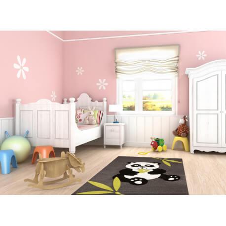 tapis pour chambre de b b noir panda. Black Bedroom Furniture Sets. Home Design Ideas