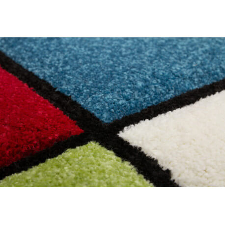 Tapis multicolore pour enfant Little House