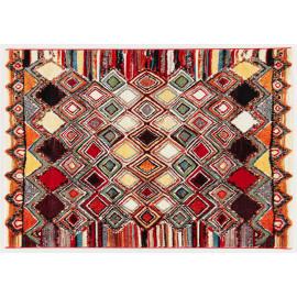 Tapis multicolore berbère pour salon ethnique Carlow