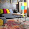 Tapis multicolore vintage pour salon rayé rectangle Midleton