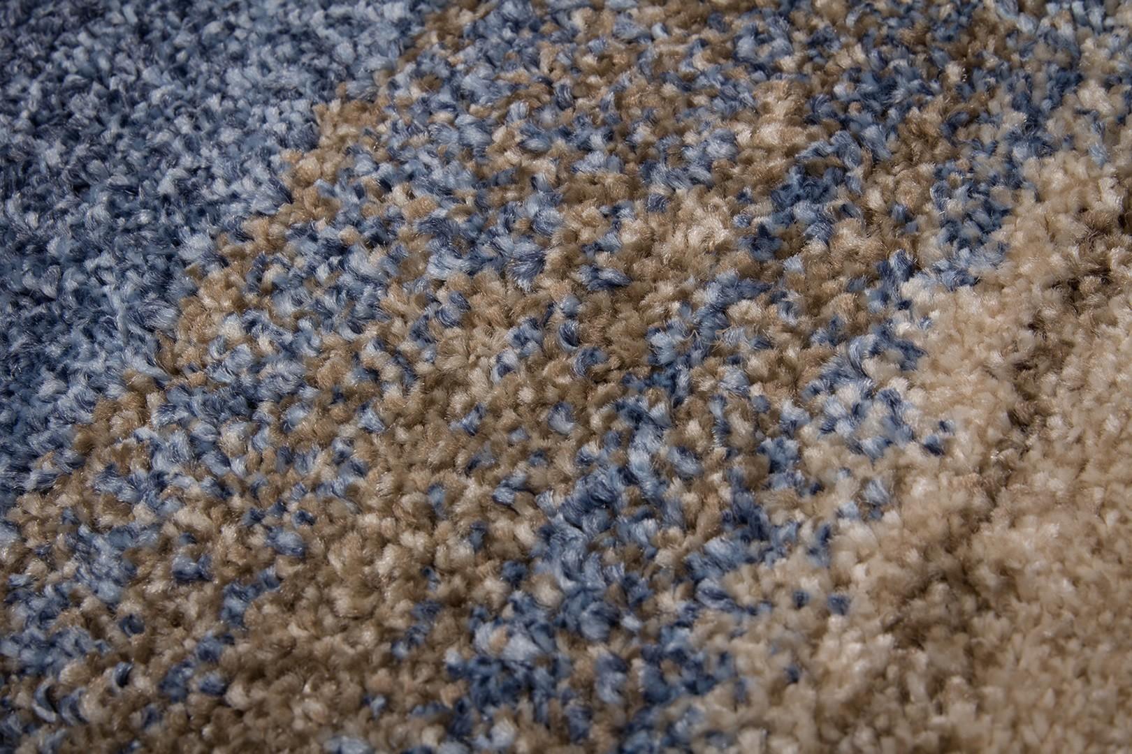 Tapis moderne de salon doux bleu jeans Kansas City