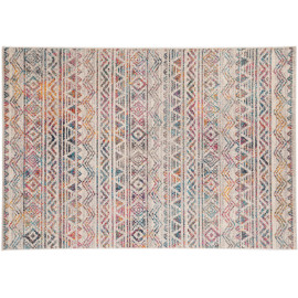 Tapis de salon berbère coloré rectangle ethnique Louth