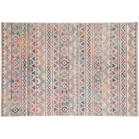 Tapis de salon berbère coloré rectangle ethnique Louth