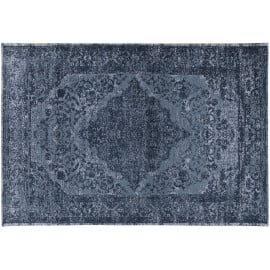 Tapis vintage plat pour salon rayé rectangle Clonmel