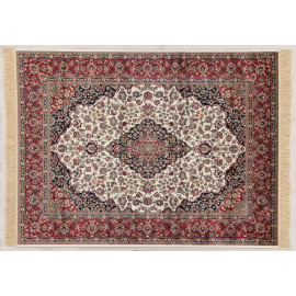 Tapis ivoire style oriental pour salon rectangle Clifden
