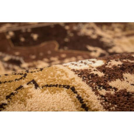 Tapis patchwork en polypropylène beige Sadkal