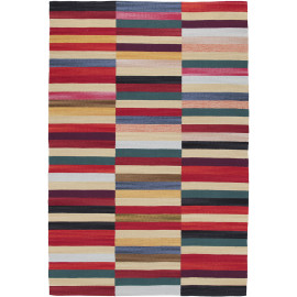 Tapis moderne plat lavable en machine multicolore Stirling