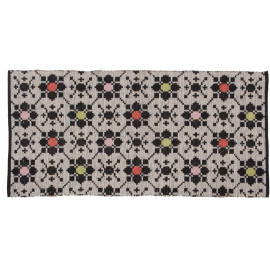 Tapis multicolore plat moderne lavable en machine Perth