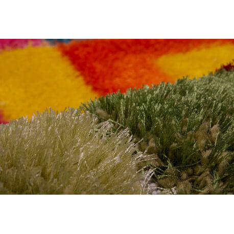 Tapis effet 3D shaggy multicolore Crazy Disco