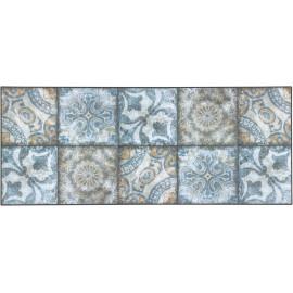 Tapis bleu carreaux de ciment design pour cuisine Falkirk