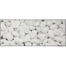 Tapis blanc moderne galet pour cuisine en PVC Lerwick
