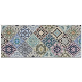 Tapis de cuisine carreaux de ciment multicolore design Melrose