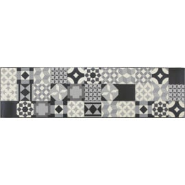 Tapis design pour cuisine carreaux de ciment rectangle Mallaig