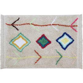 Tapis avec franges ethnique mini Kaarol Lorena Canals