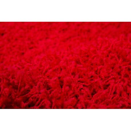 Tapis de chambre uni en polypropylène rouge Hollywood