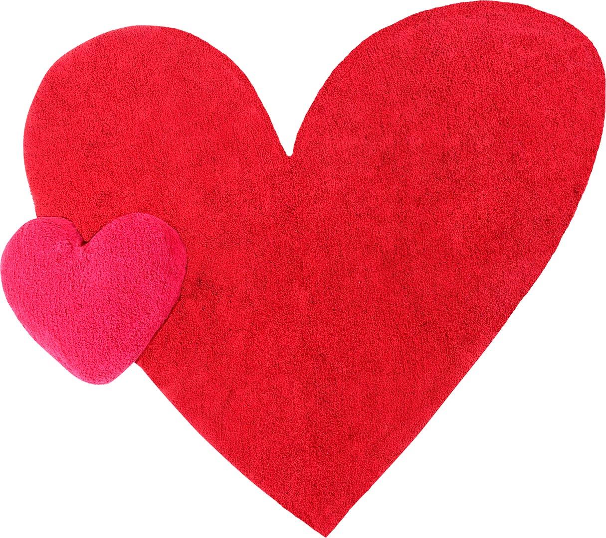 Tapis cœur rouge enfant lavable en machine Agatha Puffy Lorena Canals