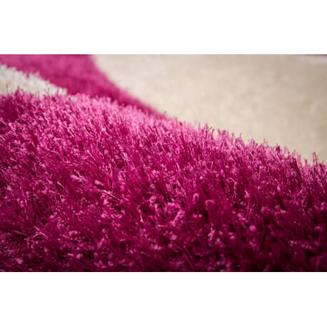 Tapis en polyester shaggy rose Michigan