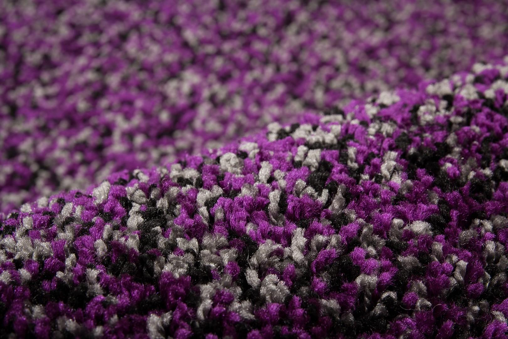 Tapis en polypropylène shaggy violet Storm