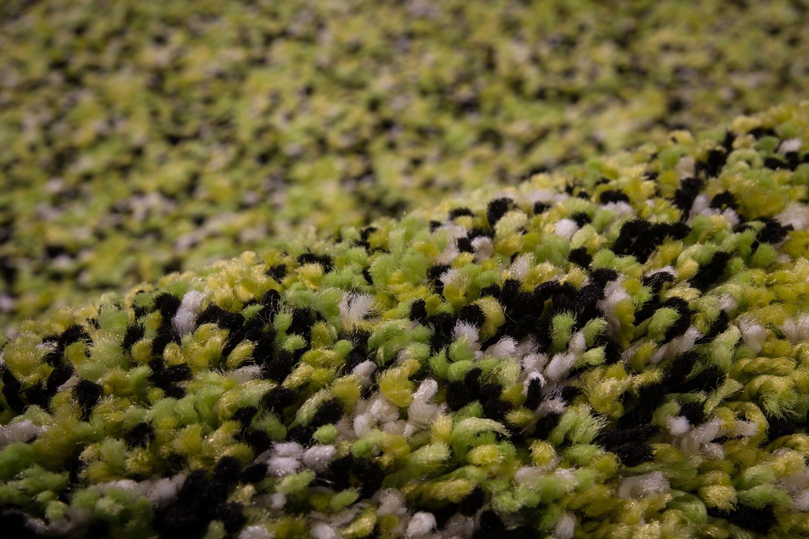 Tapis en polypropylène shaggy vert Storm