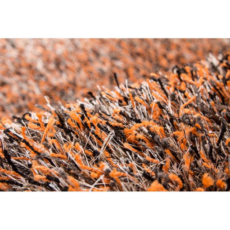 Tapis à longues mèches pour salon orange Luxury Shaggy
