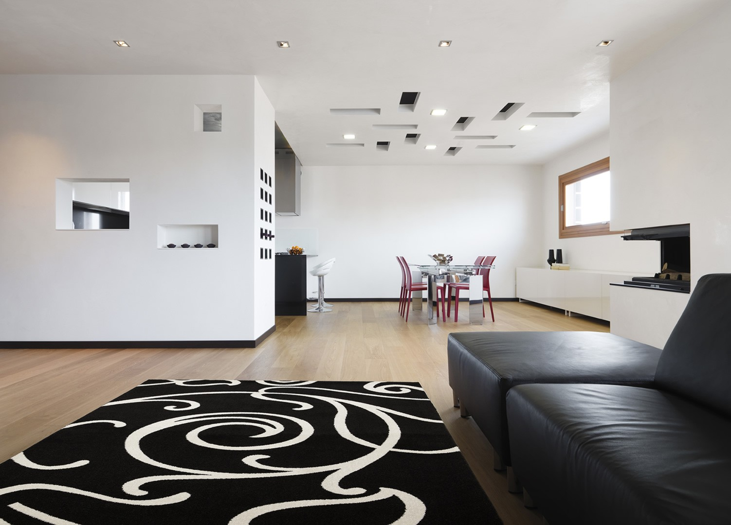 tapis courtes m ches pour salon noir utah. Black Bedroom Furniture Sets. Home Design Ideas