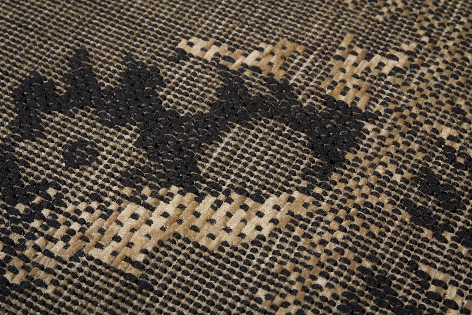 Tapis plat vintage effet patchwork beige Manchester