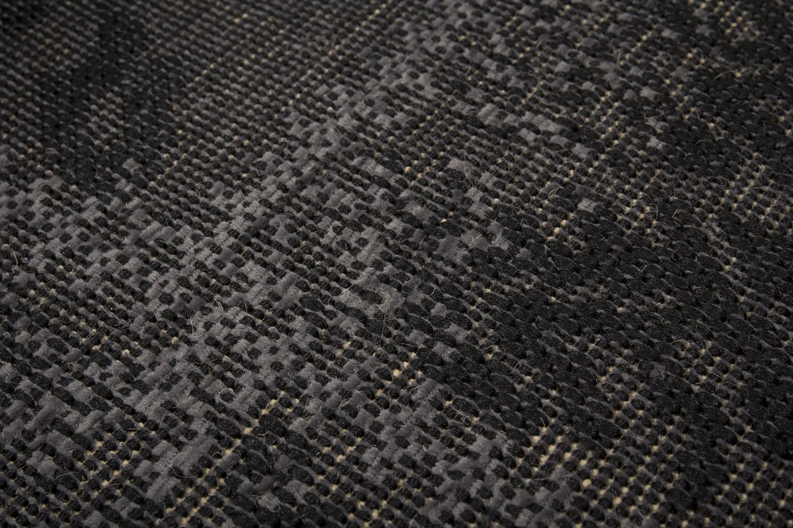 Tapis plat vintage effet patchwork argenté Manchester