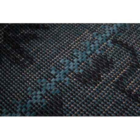 Tapis plat vintage effet patchwork turquoise Manchester