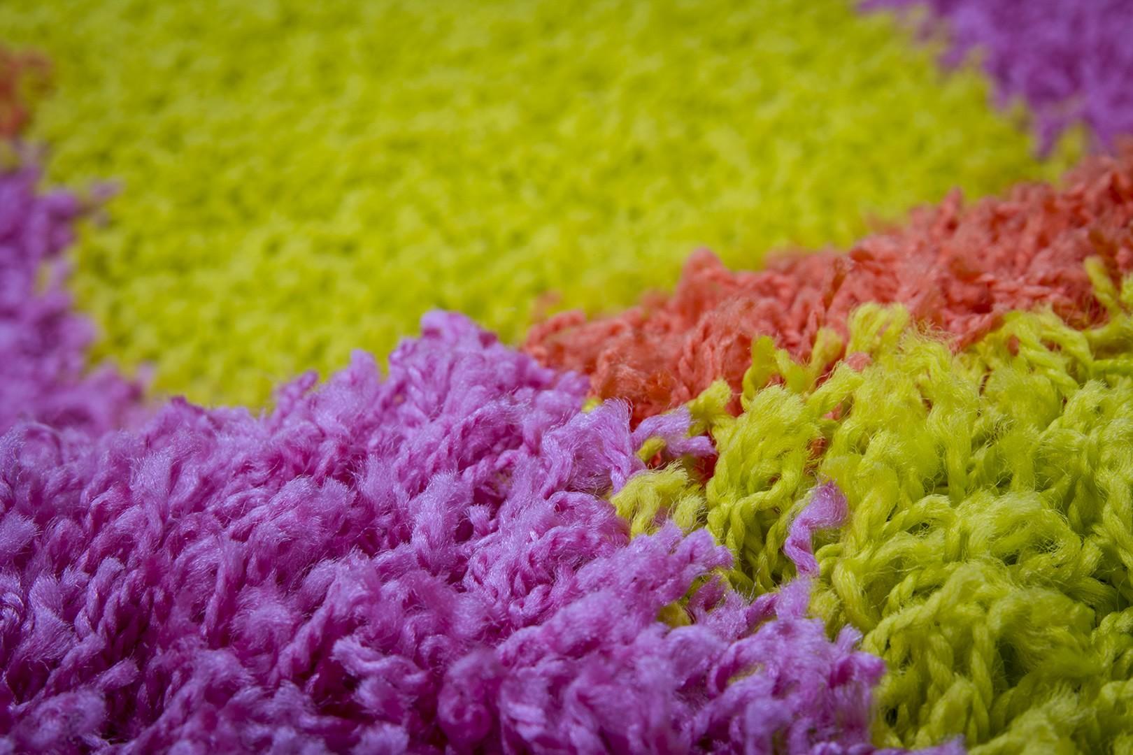 Tapis shaggy en polypropylène multicolore Eldorado
