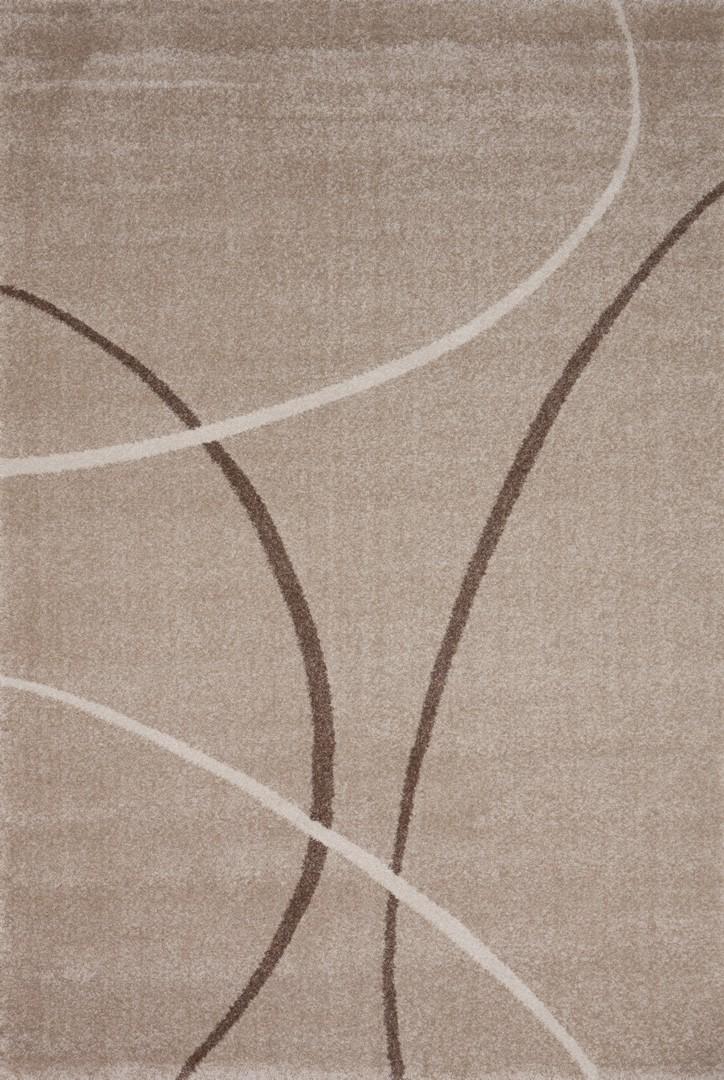 Tapis design pp frisée beige Velvet