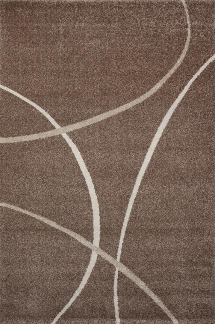Tapis design pp frisée marron Velvet