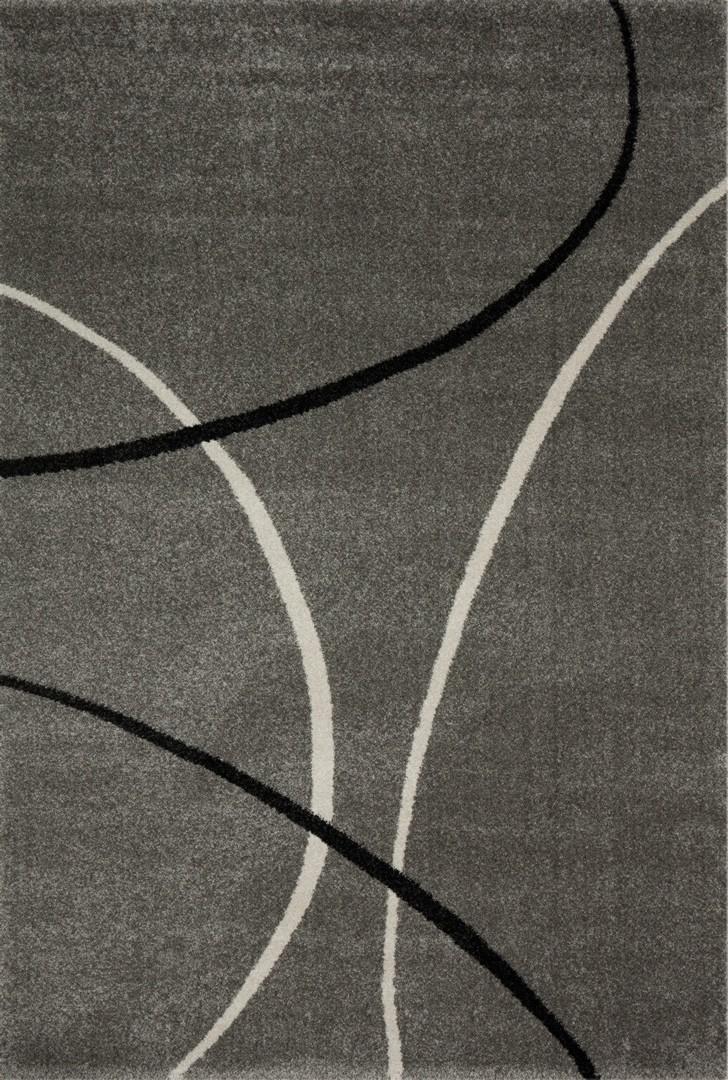 Tapis design pp frisée gris Velvet