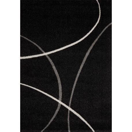 Tapis design pp frisée noir Velvet