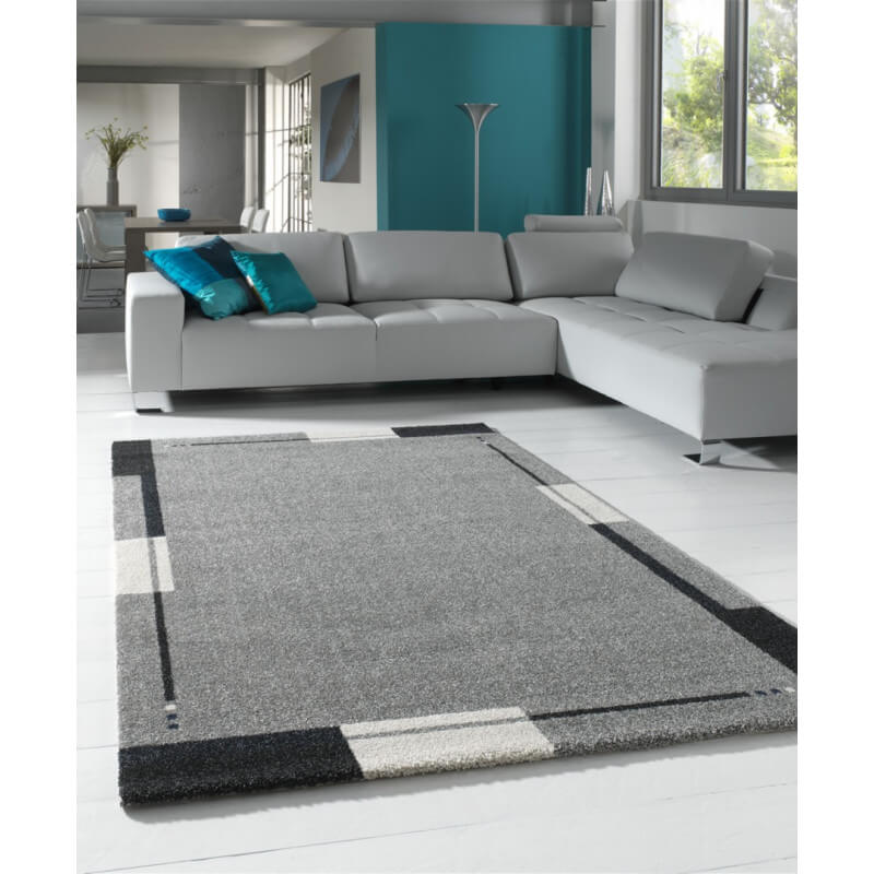 tapis de salon contemporain gris flume. Black Bedroom Furniture Sets. Home Design Ideas
