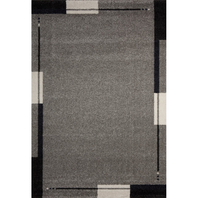 Tapis de salon contemporain gris flume for Salon contemporain gris