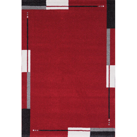 Tapis de salon contemporain rouge Flume