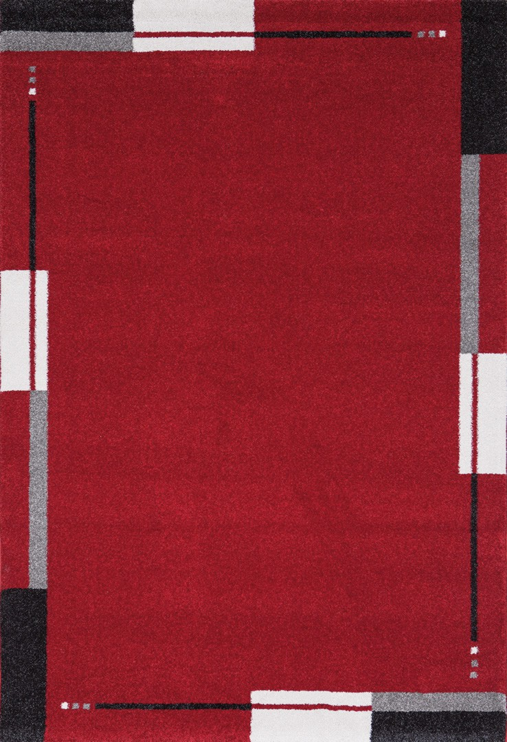 Tapis de salon contemporain rouge Flume